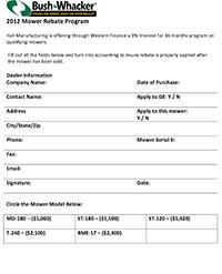 Download Rebate Form for 2011-2013 models