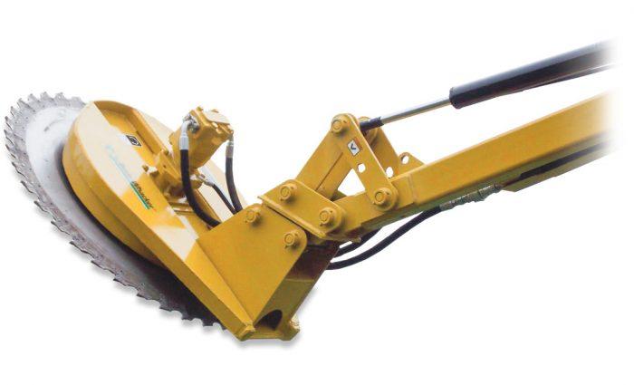 Bush-Whacker RME-22 Rear-Mount Boom Rotary Cutter saw blade attachment