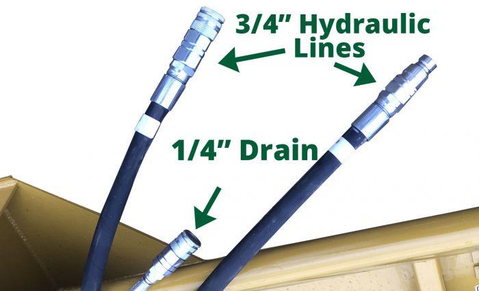SSM-72 ?? Hydraulic Lines,1/4? Drain