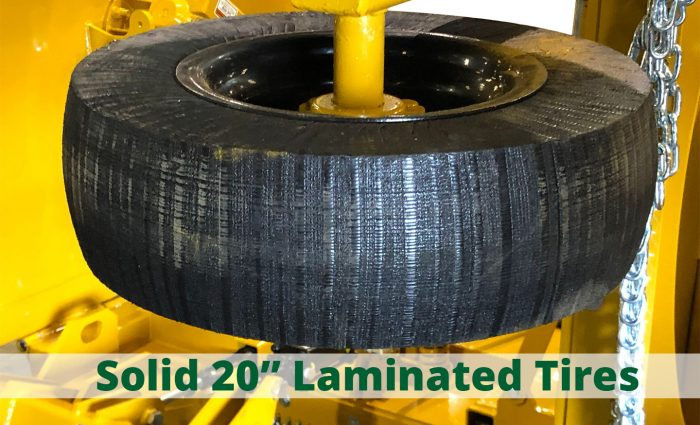 """Solid 20"""" Laminated Tires"""